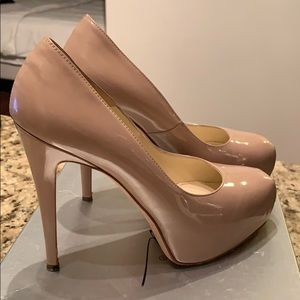 "Brian Atwood ""Maniac"" Nude Pumps"